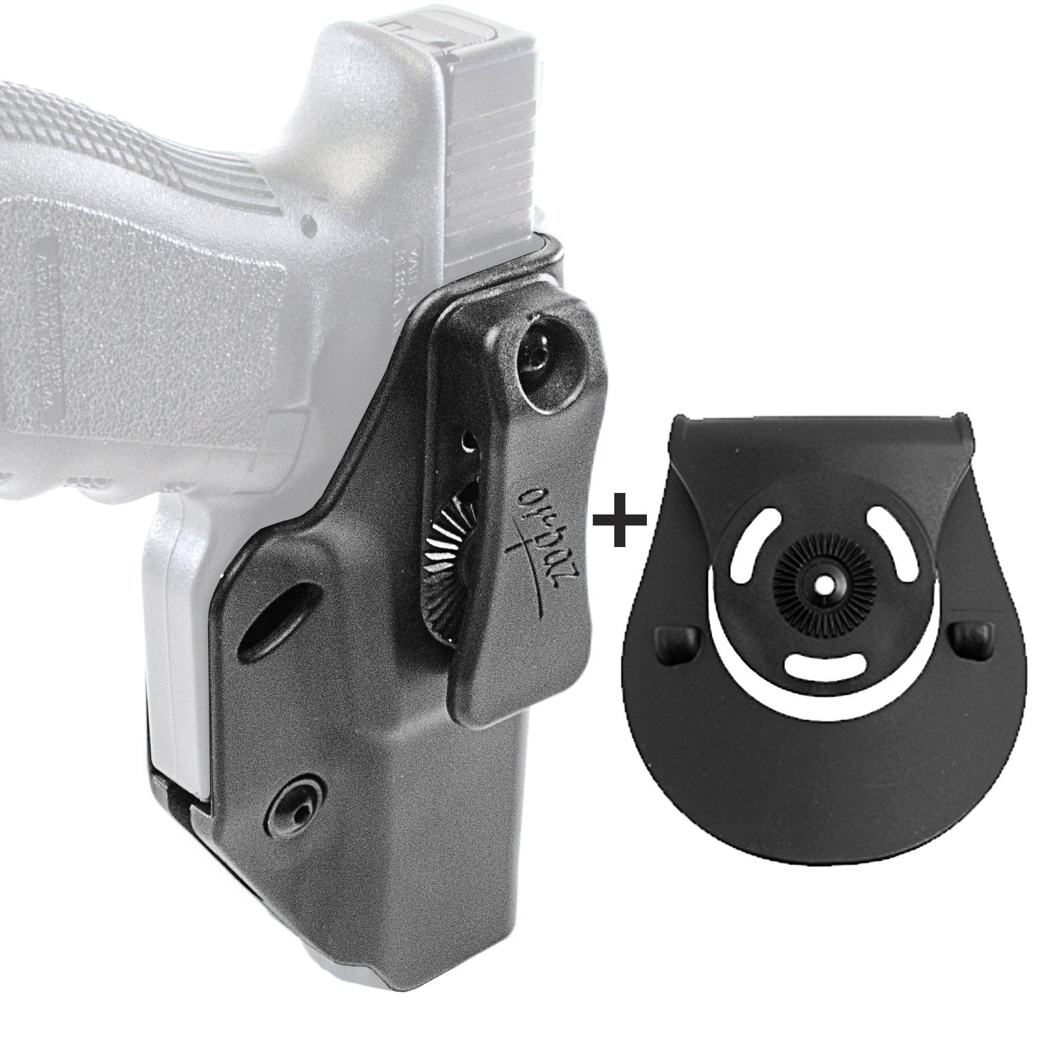 Orpaz Glock 19, 26 Concealed Carry Holster IWB Holster & OWB Paddle Attachment by Orpaz