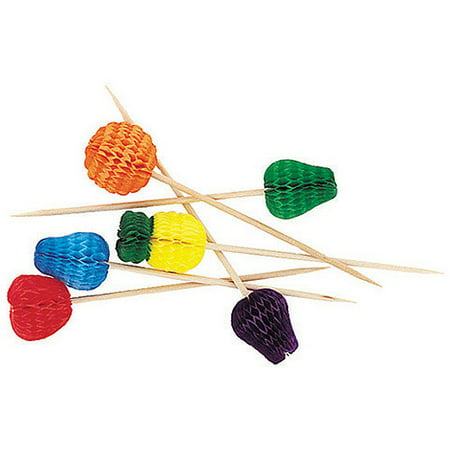 Ideas For A Luau Party (Tropical Fruit Luau Party Toothpicks, 4in, Assorted,)