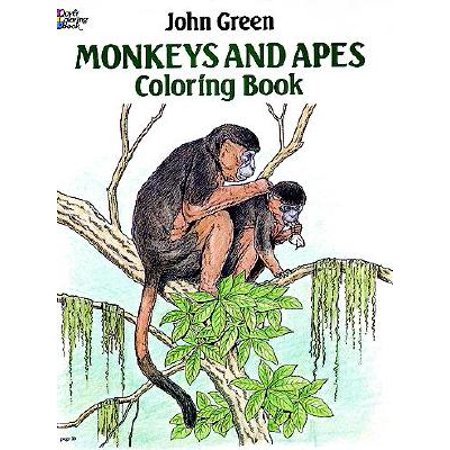 Monkeys and Apes Coloring Book (Ace Monkeys)