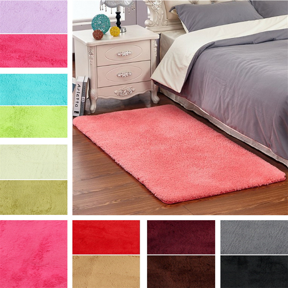 fluffy rectangle floor rug antiskid shaggy area rug dining room carpet yoga bedroom floor