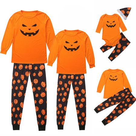 Halloween Pajamas For Baby Girl (Halloween Family Matching Pajamas Set Adult Kid Baby Sleepwear Nightwear)