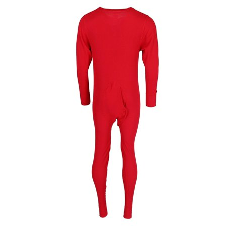 Hanes Mens Solid Waffle Knit Thermal Union Suit. 125443 - image 2 of 3