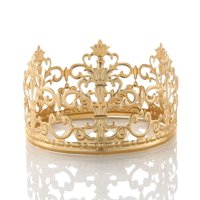 Charmed Vintage Golden Crown Cake Topper Queen Princess Party Wedding Bridal Decor