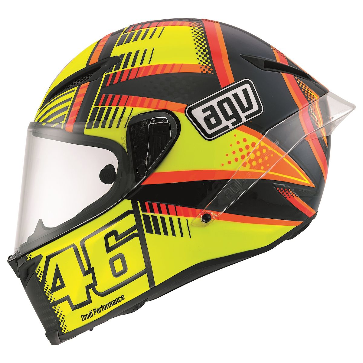 AGV Corsa Soleluna Qatar Motorcycle Helmet  Yellow/Black/Orange