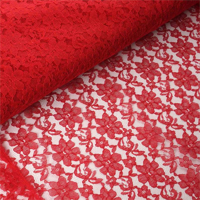 54 inch x 15 yards Lace Fabric Bolt - Red