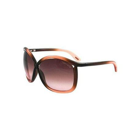 Tom Ford CHARLIE Sunglasses Transparent Frame Gradient Lens FT0201 50F 64-12 (Tom Ford Sunglasses Blue Lenses)