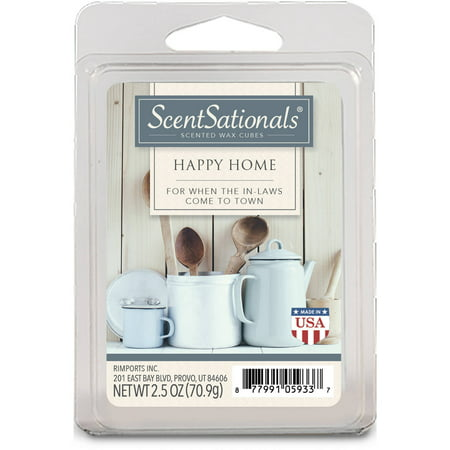 ScentSationals 2.5 oz Happy Home Scented Wax Melts