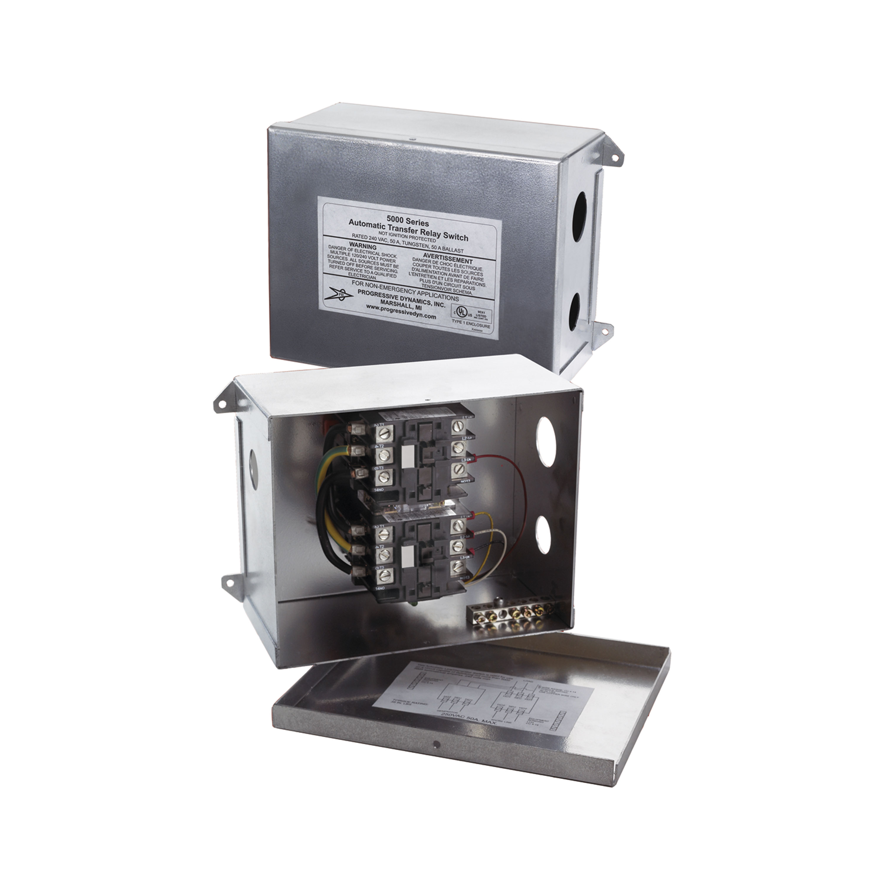 Progressive Dynamics PD5110010V 5100 Series Automatic Transfer Switch - 120 VAC, 30 Amp w/Pigtail Connection