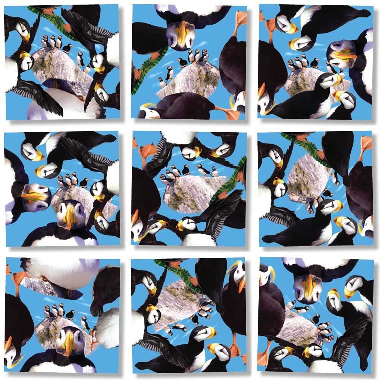 B Dazzle Puffins Scramble Squares 9 Piece Puzzle - Walmart.com