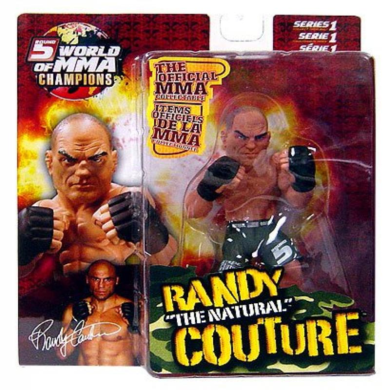 """Round 5 World of MMA Champions UFC Series 1 Action Figure Randy """"The Natural"""" Couture (Green Shorts... by"""