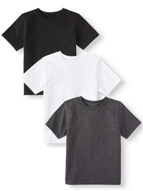 Garanimals Short Sleeve Solid T Shirts, 3pc Multi-Pack (Toddler Boys)