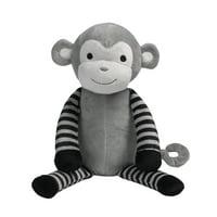 Bedtime Originals Jungle Fun Gray/Black Plush Monkey Stuffed Animal - Bingo