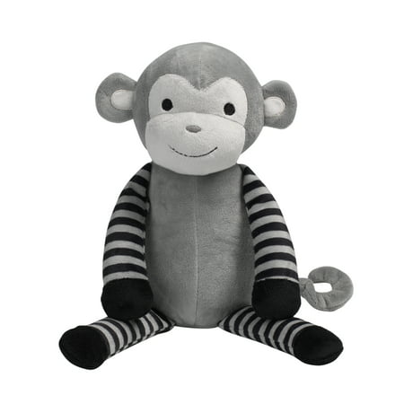 Bedtime Originals Jungle Fun Gray/Black Plush Monkey Stuffed Animal - Bingo