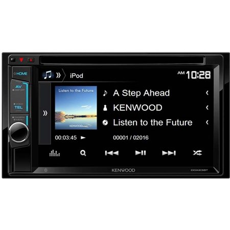 kenwood 2 din am fm dvd cd car stereo with bluetooth. Black Bedroom Furniture Sets. Home Design Ideas