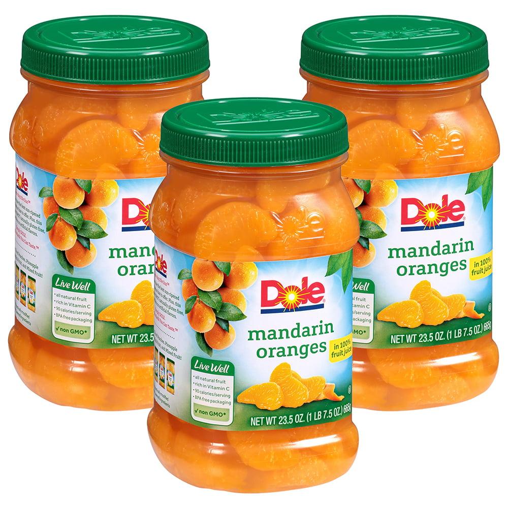 (3 Pack) Dole Mandarin Oranges in 100% Fruit Juice 23.5 oz. Plastic Jar