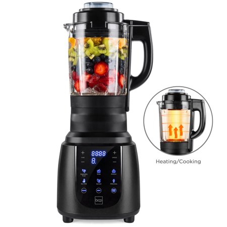 Best Choice Products 1200W 1.8L Multifunctional High-Speed Digital Professional Kitchen Smoothie Blender with Heating Function, Auto-Clean, Glass Jar, Up To 42,000RPM, Space (Best Blender For Smoothies Under $100)
