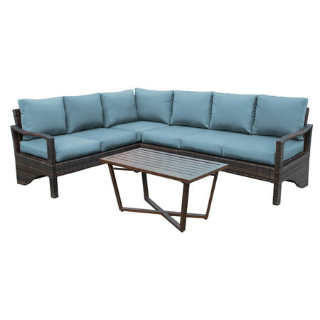 Augusta Wicker Corner Sectional