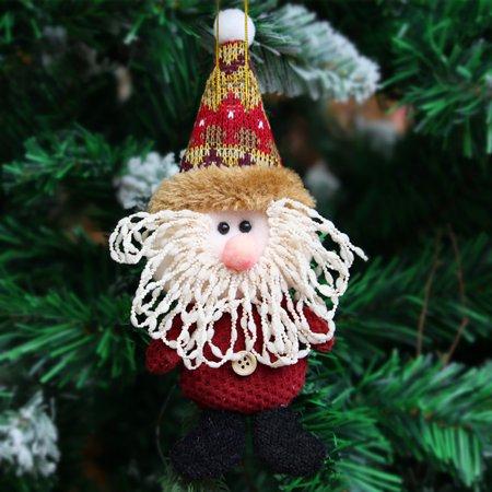 Three Deer - Cute Santa Snowman Deer Christmas Decoration Gift Doll Christmas Tree Hanging Ornament