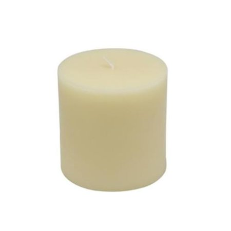 Zest Candle CPZ-169-12 3 x 3 inch Ivory Pillar Candles -12pcs-Case- Bulk