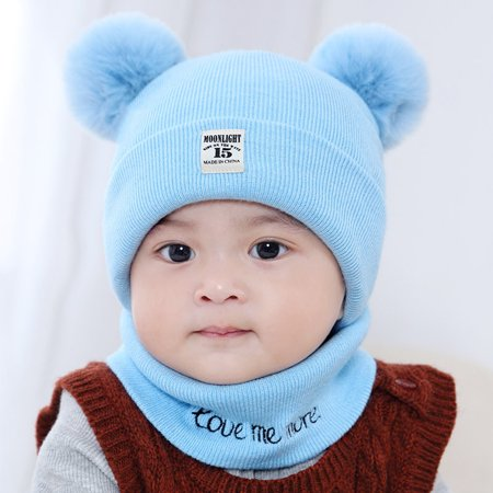 Coxeer - New Autumn Winter Christmas Hat Baby Boys Girls Hat Warm Windproof Wool  Hat Toddler Kids Boy Girl Children s Lovely Cute Soft Beanie Hat Cap ... 8c57c9cf0b22