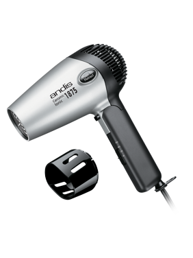 Andis Fold-N-Go Ceramic Ionic Hair Dryer with 4 Air Speeds, 1875 Watts