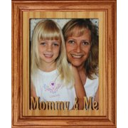 8X10 Mommy & Me Portrait Photo Laser Name Frame ~ Fruitwood stained Frame ~ Gift For Mom