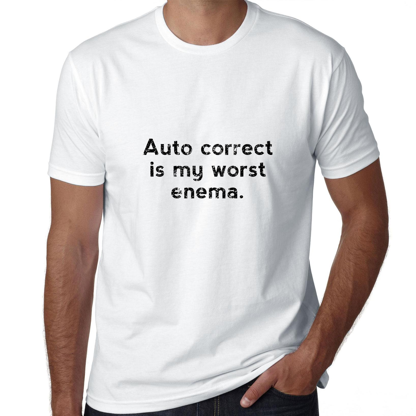 Auto Correct Is My Worst Enema - Computer Humor Men's T-Shirt