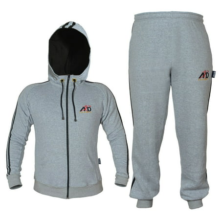 Ard Champs  Fleece Tracksuit Hoodie Trouser Mma Gym Boxing Running Jogging Suit Color Grey  Size Small