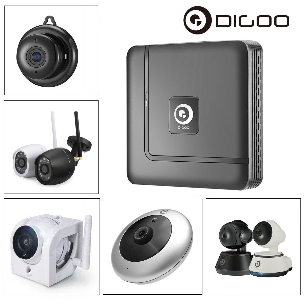 Digoo Smart Home Security Indoor Outdoor Wireless WiFi Network IP Camera Baby Monitor CCTV,Night Vision IR Motion Detection Two-Way APP Control With NVR Video Recorder