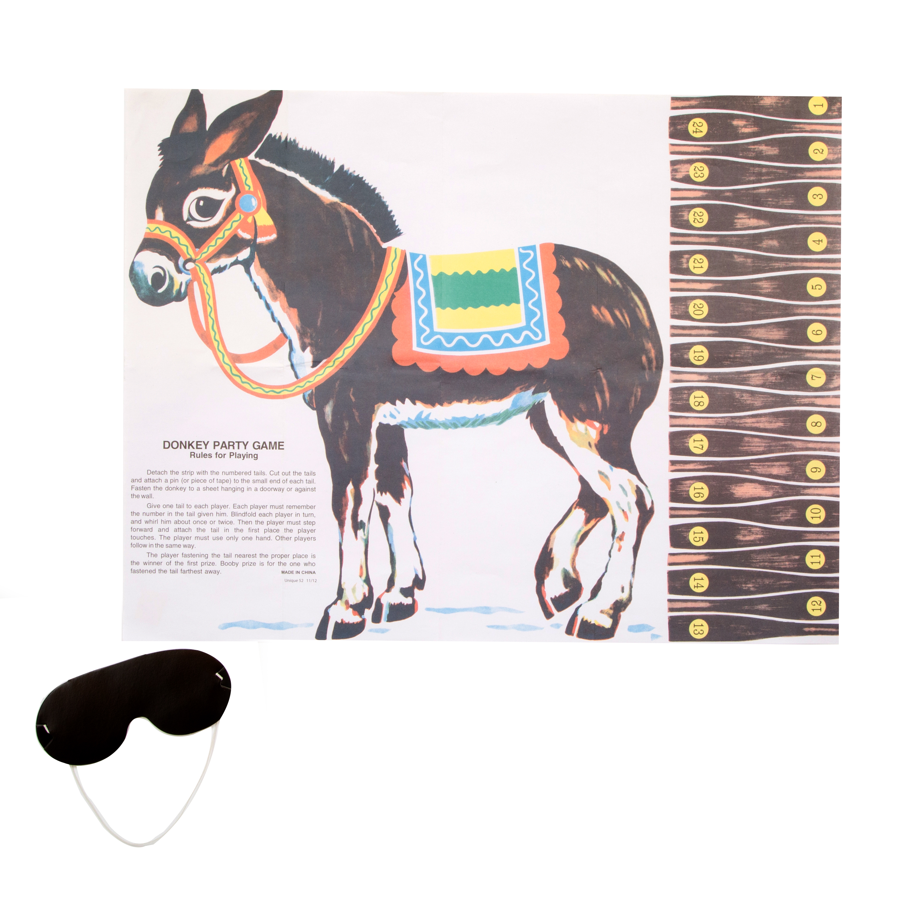 Pin the Tail on the Donkey Party Game for 24