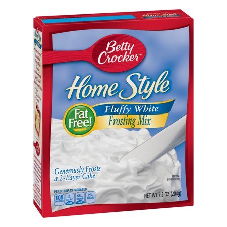 (2 Pack) Betty Crocker Home Style Fluffy White Frosting Mix, 7.2 oz
