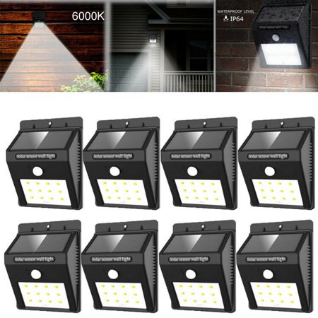 2-8 Pack Solar Power Sensor Wall Light Security Motion Weatherproof Outdoor Lamp - Solar Sensor 33 Led-8 (33 Outdoor Wall)
