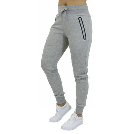 Women's Jogger Pants With Tech Zipper Pockets - SLIM FIT DESIGN - Woman Joker
