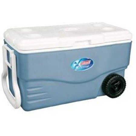 Coleman 100 Quart Xtreme 5 Day Heavy Duty Cooler with Wheels, Blue