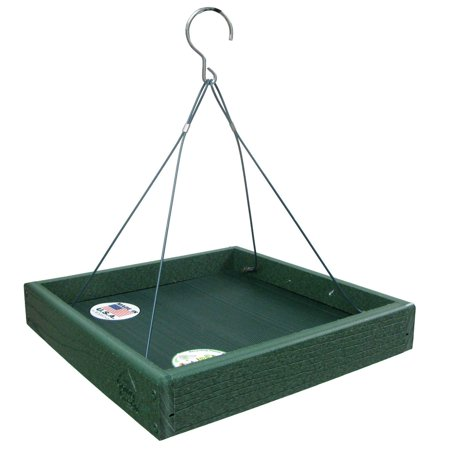 Going Green Platform Bird Feeder Model GGPLAT, Feeder is made of up to 90-percent post-consumer recycled plastic By Woodlink