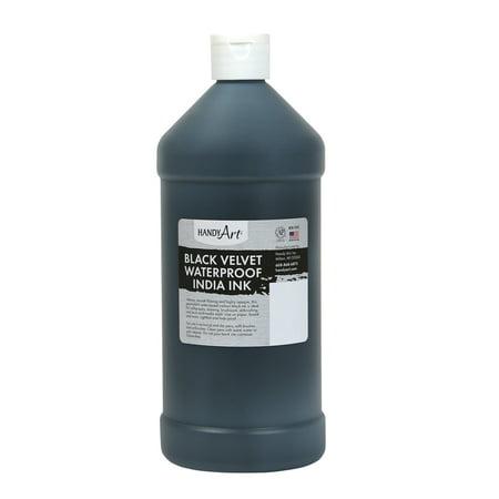 Handy Art Non-Toxic Waterproof India Ink, 1 Quart, Black Velvet
