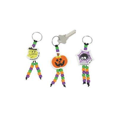 IN-13747567 Halloween Beaded Keychain Craft Kit