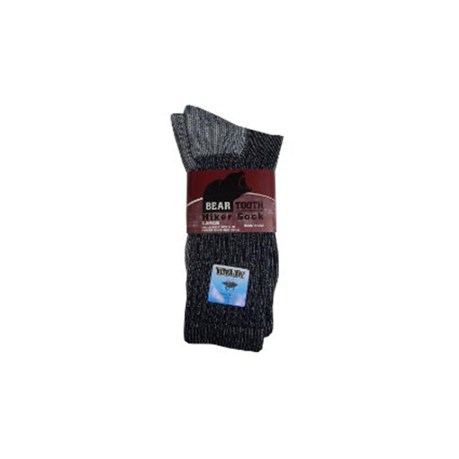 Bear Tooth 9052 Men's Dry Hiker Sock Large Black
