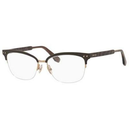 - JIMMY CHOO Eyeglasses 138 0LYE Matte Brown 53MM