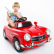 costway red mercedes benz 300sl amg rc electric toy kids baby ride on car image 1