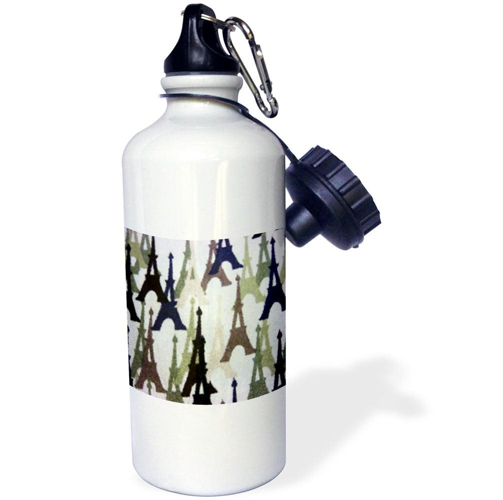 3dRose Paris In Winter, Sports Water Bottle, 21oz by Supplier Generic