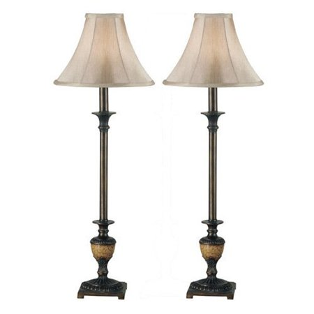 Kenroy Home 30944 Emily 2-Pack Buffet Lamp Set by