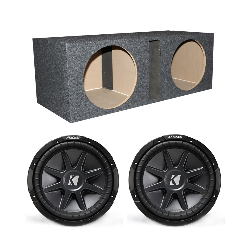 "2) Kicker CVR122 12"" 1600W Car Power Subwoofers + Dual Ve..."