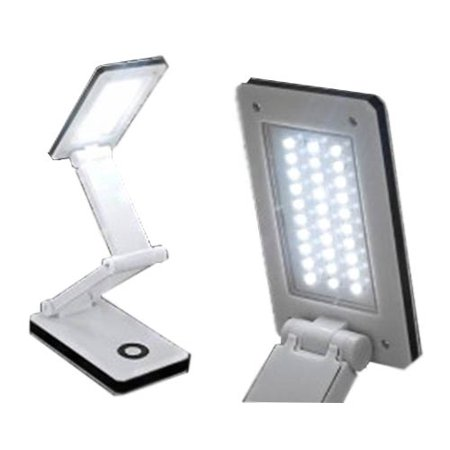 Sonnet 30 LEDs, Two Light Levels Travel Folding Desk Light FSH341