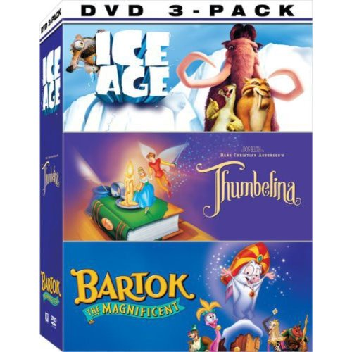 Animated 3-Pack: Ice Age / Thumbelina / Bartok (Full Frame)