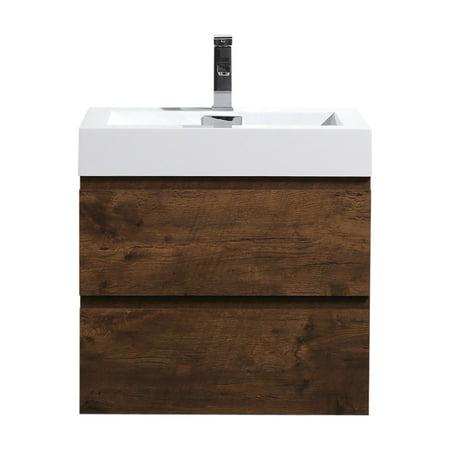 Morenobath Fortune Wall Mounted Single Bathroom Vanity Black Wall Mount Vanity