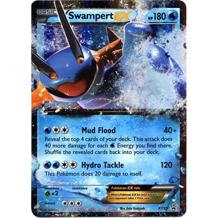 Pokemon X & Y Promo Single Card Ultra Rare Holo Swampert-EX (Pokemon X And Y Starter Pokemon Evolution)
