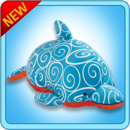 Authentic Pillow Pets Dolphin Retro Swirly Large 18