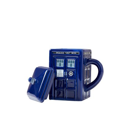 Doctor Who Tardis Mug | Official Ceramic Coffee Mug With Lid | 17 Oz.