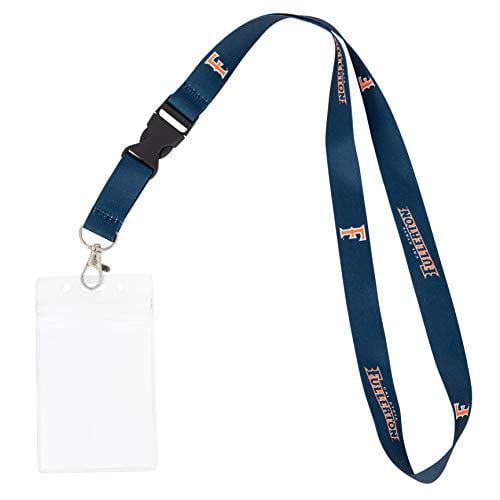 Cal State University Fullerton California CSUF Titans NCAA Car Keys ID Badge Holder Lanyard Keychain Detachable Breakaway Snap Buckle